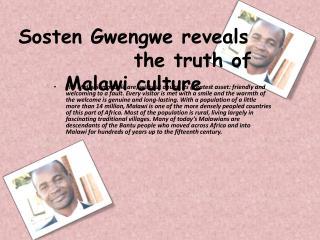Sosten Gwengwe Malawi culture