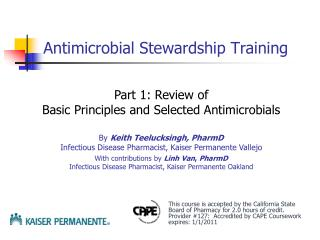 Antimicrobial Stewardship Training