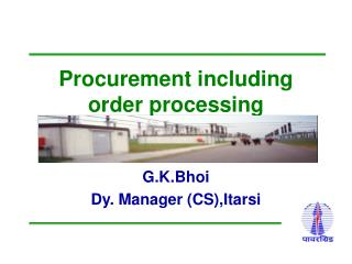 Procurement including order processing