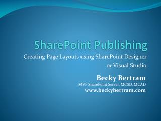 SharePoint Publishing