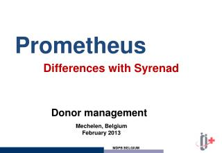 Prometheus  Differences with Syrenad