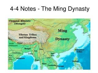 4-4 Notes - The Ming Dynasty