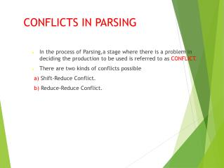 CONFLICTS IN PARSING