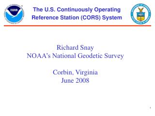 The U.S. Continuously Operating Reference Station (CORS) System