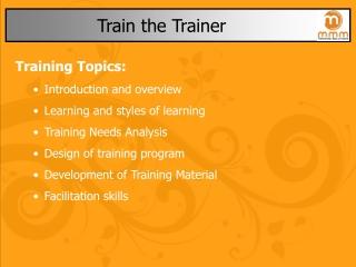 Train the Trainer Concept