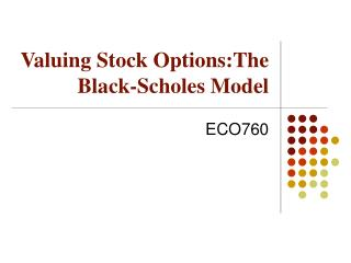 Valuing Stock Options:The Black-Scholes Model
