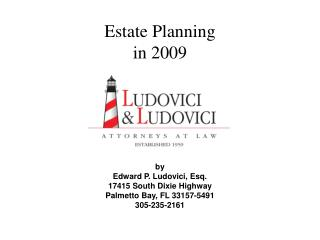 Estate Planning in 2009