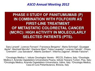 ASCO Annual Meeting 2012