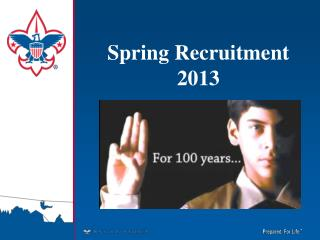 Spring Recruitment  2013