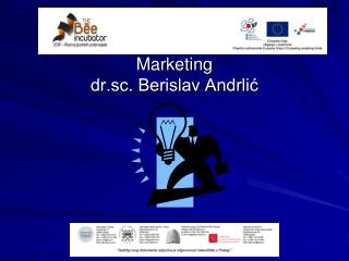 Marketing dr.sc. Berislav Andrlić