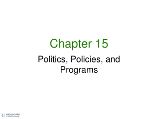 CHAPTER 15   LONG-TERM CARE INSURANCE