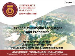 Text and Multimedia Languages  and Properties