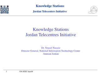 Knowledge Stations Jordan Telecentres Initiative Dr. Yousef Nusseir