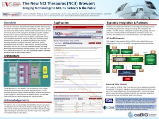 The New NCI Thesaurus (NCIt) Browser:  Bringing Terminology to NCI, Its Partners & the Public