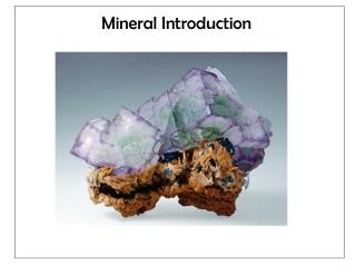 Mineral  Introduction