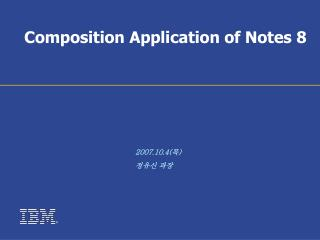 Composition Application of Notes 8