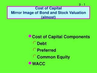 Chapter 9 Capital Budgeting Decision Models