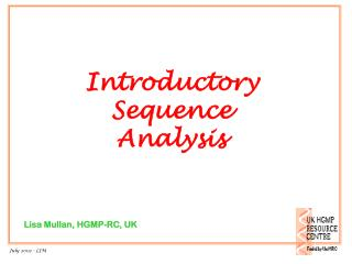 Introductory Sequence Analysis