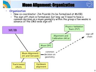 Muon Alignment: Organization