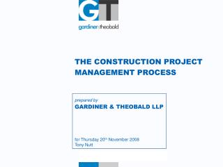 THE CONSTRUCTION PROJECT  MANAGEMENT PROCESS