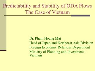 Predictability and Stability of ODA Flows  The Case of Vietnam