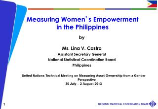 Measuring Women ' s Empowerment  in the Philippines