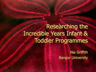 Researching the Incredible Years Infant  Toddler Programmes