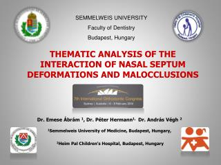 THEMATIC ANALYSIS OF THE INTERACTION OF NASAL SEPTUM DEFORMATIONS AND MALOCCLUSIONS