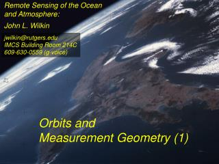 Remote Sensing of the Ocean and Atmosphere:
