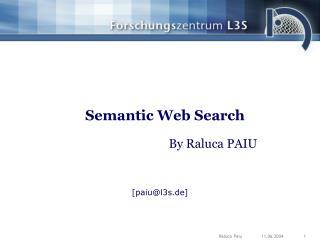 Semantic Web Search