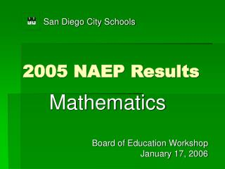 2005 NAEP Results