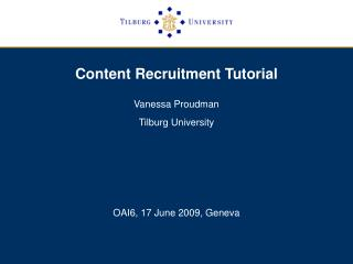 Content Recruitment Tutorial