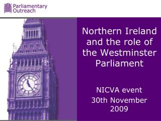 Northern Ireland and the role of the Westminster Parliament