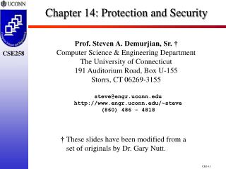 Chapter 14:  Protection and Security