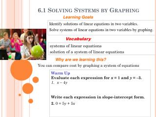 6.1 Solving Systems by Graphing