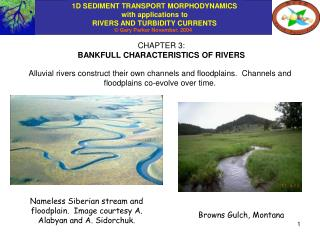 CHAPTER 3: BANKFULL CHARACTERISTICS OF RIVERS