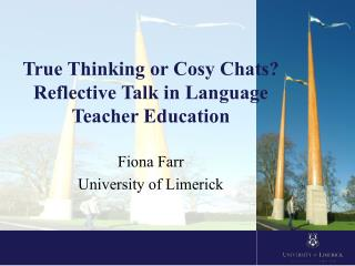 True Thinking or Cosy Chats? Reflective Talk in Language  Teacher Education