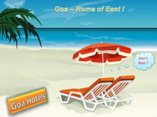 Vacation of Goa with Five Star Hotels Stay
