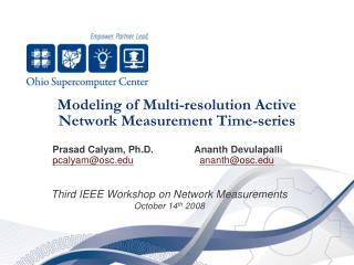 Modeling of Multi-resolution Active Network Measurement Time-series