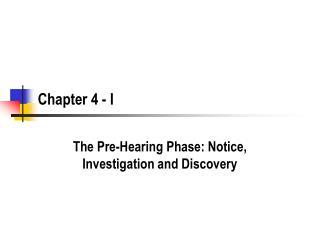 Chapter 4 - I