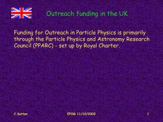 Outreach funding in the UK