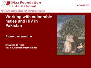 Working with vulnerable males and HIV in Pakistan