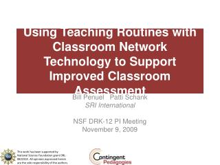 Using Teaching Routines with Classroom Network Technology to Support Improved Classroom Assessment
