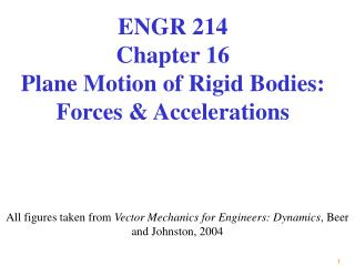 All figures taken from Vector Mechanics for Engineers: Dynamics, Beer and Johnston, 2004