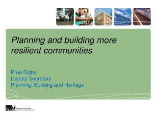 Planning and building more resilient communities