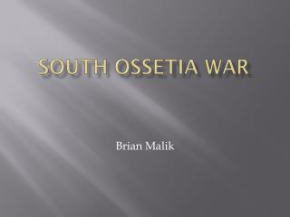 South  ossetia  war