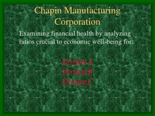 Chapin Manufacturing Corporation