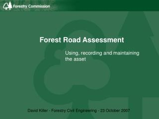 Forest Road Assessment