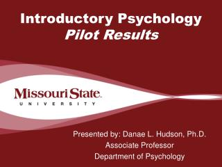 Introductory Psychology  Pilot Results