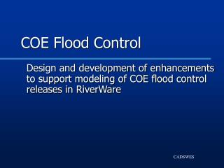 COE Flood Control